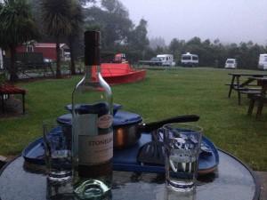 Camping elämää Roadtripillä